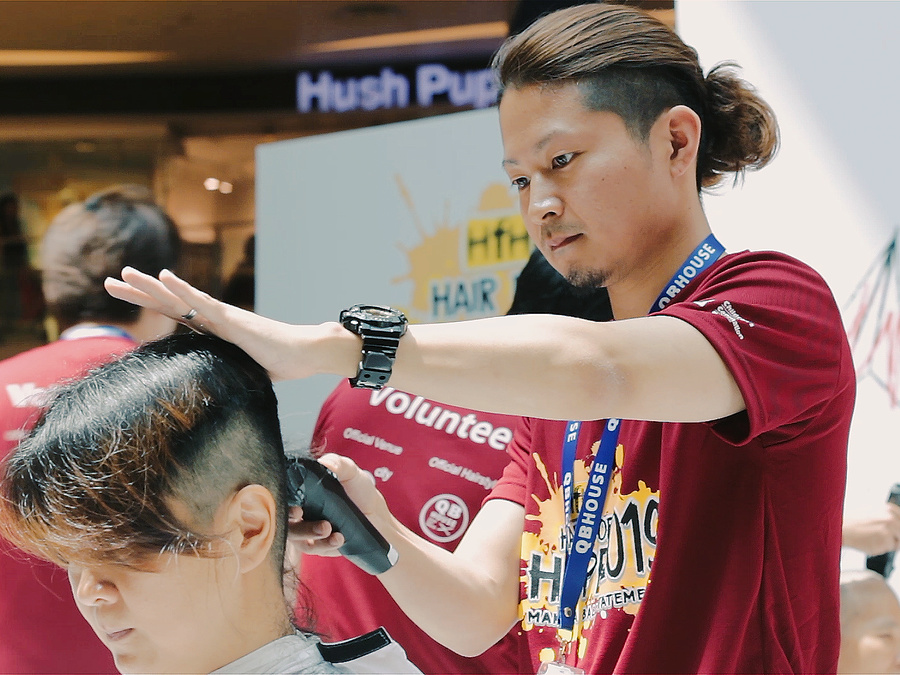 Japanese Hairstylist at Hair for Hope 2019