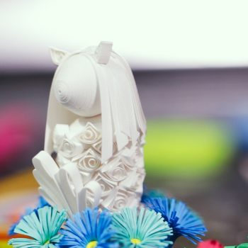 Paper Quilling Merlion by Japanse Craft Artist
