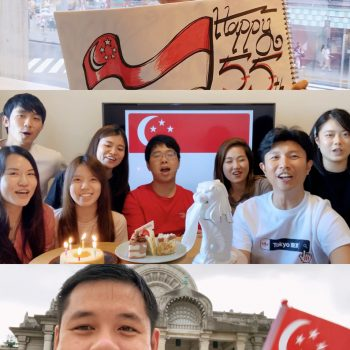 Singaporeans in Japan celebrating National Day
